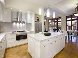 awesome stylish kitchen with contempoorary lighting idea and