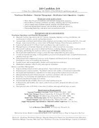 Resume Examples Warehouse Manager Distribution Sample Customer Service Interview Questions W