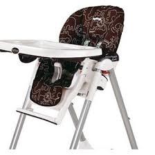 housse de chaise haute peg perego savana cacao les bébés du bonheur