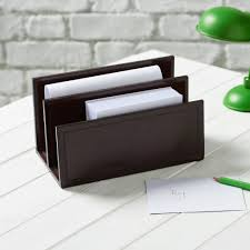 Leather Desk Blotter Australia by Leather Letter Rack By Ginger Rose Notonthehighstreet Com