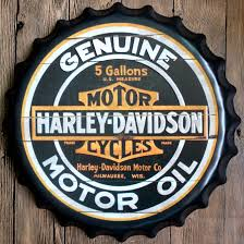 Harley Davidson Round Guinness Bear Beatles Relief Bottle Cap Vintage Tin Sign Bar Pub Home Wall Decor