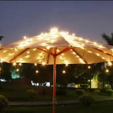 outdoor patio umbrella with solar string lights patio design