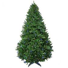 Pre Lit LED Natural California Cedar Artificial Christmas Tree With Color Changing Lights