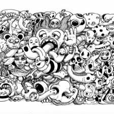 Doodle Art Coloring Pages Free