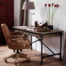 Baedekar Aged Leather Desk Chair OKA