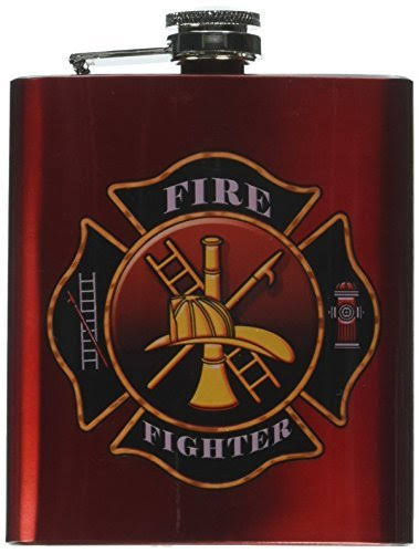 Spoontiques 15652 Hip Flask - Firefighter, 7oz