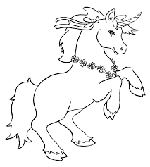 Unicorn Coloring Pages With Wings Pictures Of Unicorns To Color