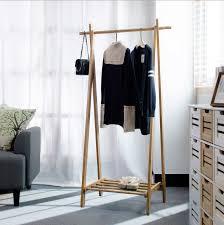 Modern Design Bamboo Bedroom Living Room Coat Rack Display Stands Scarves Hats Bags Clothes Shelf Fold Hanger Multi Function In Racks From Furniture