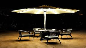 Solar Lighted Offset Patio Umbrella by Best 25 Patio Umbrella Lights Ideas On Pinterest Deck Garden With