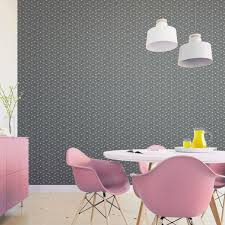 schicke moderne grafische tapete celestial dots kleines muster in grau rosa angepasst an farrow wandfarben