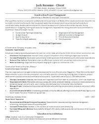 Construction Office Manager Resume Example Project Sample