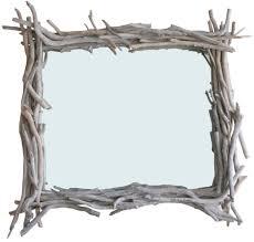 petit miroir carré en bois flotté par l atelier du bois flotté