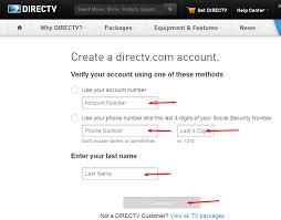 DirecTV Bill Payment register