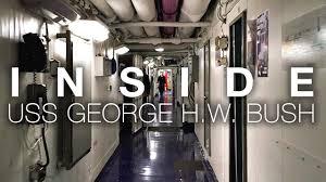 100 Aircraft Carrier Interior A Short Walk Aboard USS George HW Bush As