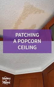Patching Popcorn Ceiling Paint by Patching A Popcorn Ceiling Madness U0026 Method
