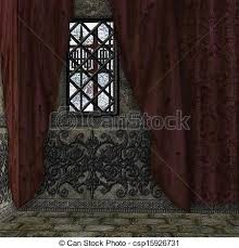 Digitally Rendered Image Of Old Haunted House Interior With