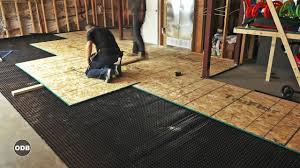 Thermaldry Basement Floor Matting Canada by Diy How To Install A Basement Subfloor Youtube