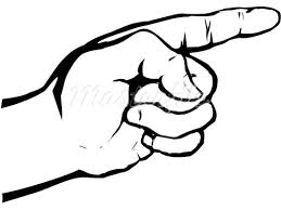 Finger clipart hand pointing Pencil and in color finger clipart