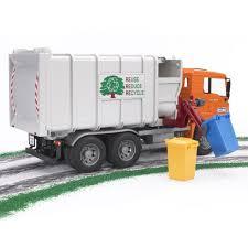 100 Garbage Truck Tab Bruder Toys MAN SideLoading With 2 Refuse Bins