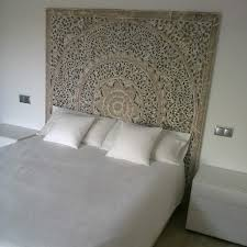 White Headboard King Size by Carved Teak Headboard Panel White Washed Finish King Size