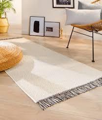 moderner teppichläufer mit zick zack muster