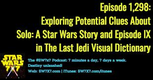 1298 The Last Jedi Visual Dictionary Clues Solo