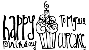 Birthday black and white black and white happy clipart