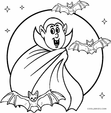 Scary Vampire Coloring Pages