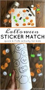 Best Halloween Candy For Toddlers by Quick Halloween Activity With Foam Stickers For Preschoolers