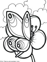 Coloring Pages Flowers Butterflies And Hard Butterfly Free Printable Large Size