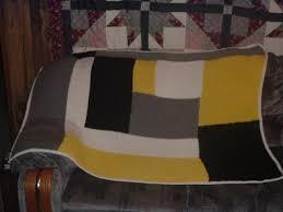 Knit and Pray Modern Log Cabin Blanket