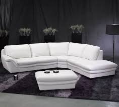 Poundex Bobkona Sectional Sofaottoman by White Leather Couches Latest Trend Of Cheap White Leather
