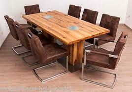 eßgruppe esszimmer tisch 8 stühle wössner mod colorado eiche massiv neu
