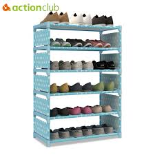 Actionclub Six Layer Simple Shoe Rack Non woven Iron Metal Shoe
