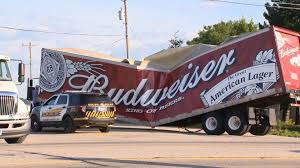 This Budweiser Truck Was Crushed Like A... - WTAE-TV Pittsburgh Budweiser Truck Stock Images 40 Photos Ubers Selfdriving Startup Otto Makes Its First Delivery Budweiser Truck And Trailer Pack V20 Fs15 Farming Simulator Truck New York City Usa Photo Royalty Free This Is For Semi Trucks And Ottos Success Vehicle Wrap Gallery Examples Hauls Across Colorado In Selfdriving Hauls Across With Just Delivered 500 Beers Now Brews Its Us Beer Using 100 Renewable Energy Clyddales Boarding The Ss Badger 1