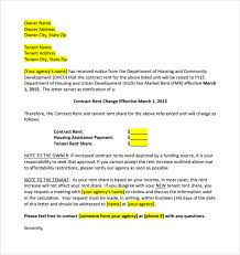 Sample Rent Increase Letter 8 Documents in Word PDF
