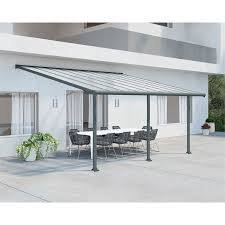 Palram Patio Cover Grey by Palram Olympia Patio Cover 3 X 6 10m Grey At Homebase Co Uk