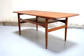 bureau teck massif table basse cocktail scandinave fabriquer bureau bois table
