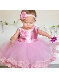 pink lace tulle satin birthday party ball gown flower