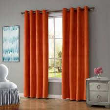 Red Eclipse Curtains Walmart by Innovative Orange Blackout Curtains And Energy Efficient Blackout