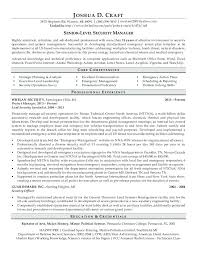 Security Director Resume Professional For A Senior Level Manager D Craft Rd Warren Mi
