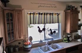 Kitchen Curtain Ideas Pictures by Kitchen Glass Windows Behind White Double Kitchen Sink Decorated