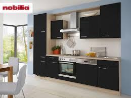 küchenzeile 280 cm lack matt schwarz touch