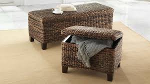 Wicker Storage Ottoman The Best Book Woven Home Improvement