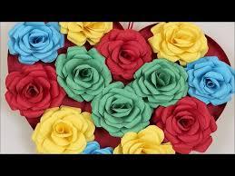 DIY Paper Rose Heart Wall Shaped Decor Showpiece