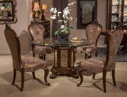 4 Piece Dining Room Sets by Aged Formal Dining Room Sets Design Featuring Glass Round Top