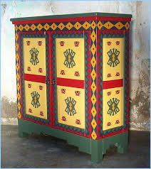 Art Furniture Southwestern New Mexican Painted Cabinet