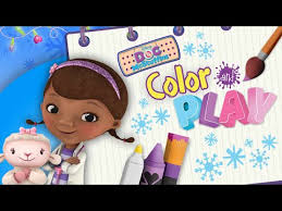 Doc Mcstuffins Color And Play Winter Time