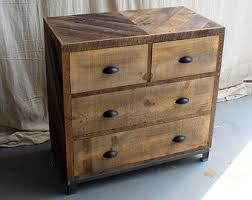 4 Drawer Dresser With Steel Base Reclaimed Barn Pallet Wood Bedroom Furniture