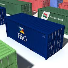 100 Shipping Container Model S 20ft 40ft 3D 39 Max Free3D